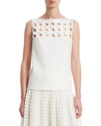 Akris Punto - Multicolor 3d Punto Petals Sleeveless Top - Lyst