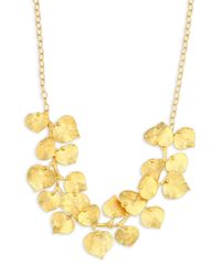 Kenneth Jay Lane - Metallic Branch And Leaf Necklace - Lyst