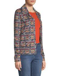 St. John - Multicolor Tweed Zip-front Jacket - Lyst