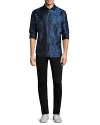 Robert Graham - Blue Paisley Silk Button-down Shirt for Men - Lyst