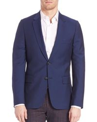 Paul Smith - Blue Two-button Wool Blend Sportcoat for Men - Lyst