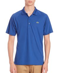 Lacoste - Blue Raglan Quick Dry Polo for Men - Lyst