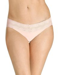 Natori - Natural Bliss Perfection One-size Thong - Lyst
