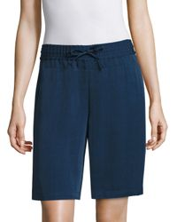 Lafayette 148 New York - Blue Drawstring Shorts - Lyst