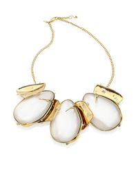 Alexis Bittar - Metallic Lucite Circle Bib Necklace - Lyst