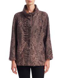 Saks Fifth Avenue - Women's Persian Lamb Fur Jacket - Pink - Size Small - Lyst