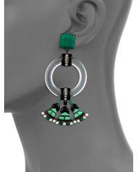 Tory Burch - Green Malachite Deco Statement Earrings - Lyst