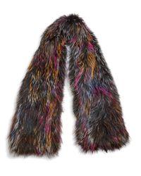 Saks Fifth Avenue - Multicolor Knit Fox Fur Scarf - Lyst