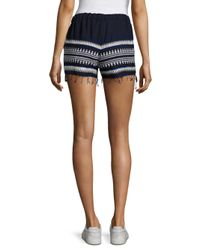 Lemlem - Blue Tabtab Fringed Shorts - Lyst