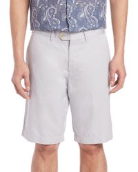 Saks Fifth Avenue - White Cotton & Linen Shorts for Men - Lyst