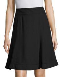 Marc Jacobs - Black Back-zip Flare Skirt - Lyst