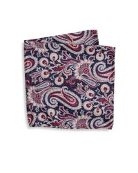 Saks Fifth Avenue - Blue Collection Paisley Textured Pocket Square for Men - Lyst