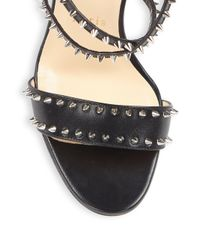 Christian Louboutin - Black Choca Spikes 100 Leather Sandals - Lyst
