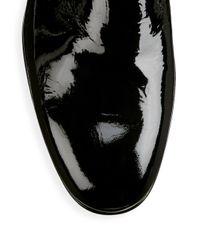 Santoni - Black Patent Leather Dress Loafers for Men - Lyst