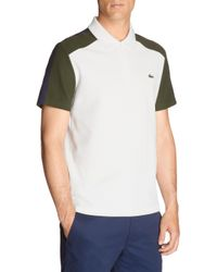 Lacoste - Multicolor Zip Collared Polo for Men - Lyst