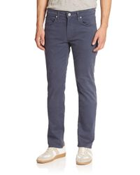 J Brand - Blue Woven Straight Pants for Men - Lyst