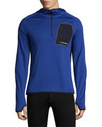 J.Lindeberg - Blue Active Hooded Running Jacket for Men - Lyst