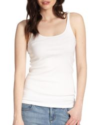 Eileen Fisher - White System Organic Cotton Tank Top - Lyst