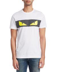 Fendi - White Bag Bugs T-shirt for Men - Lyst