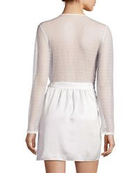 Flora Nikrooz - White Showstopper Venise Lace Robe - Lyst