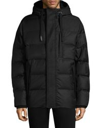 Andrew Marc - Black Groton Hooded Down Puffer Jacket for Men - Lyst