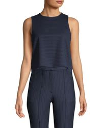 Tibi - Blue Pinstripe Sleeveless Top - Lyst