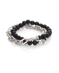 John Hardy - Gray Classic Chain Collection Beads & Link Bracelet for Men - Lyst