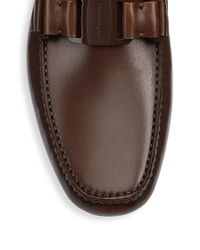 Ferragamo - Brown Sardegna 11 Leather Drivers - Lyst