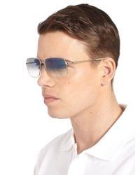 Oliver Peoples Metallic Clifton Aviator Sunglasses for men