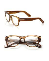 Tom Ford - Natural 51mm Rectangular Acetate Optical Glasses - Lyst