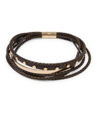Givenchy - Black Multi-row Braided Leather Choker - Lyst