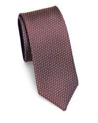 Saks Fifth Avenue - Red Mini Links Silk Tie for Men - Lyst