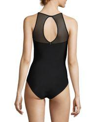 Chantelle - Black Mesh Twist Bodysuit - Lyst