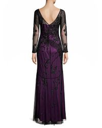 Parker Black Purple Sophia Dress