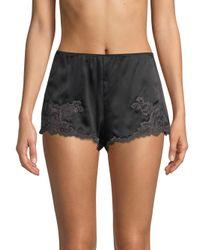 Natori - Women's Josie Lolita Lace Tap Shorts - Black/grey - Lyst