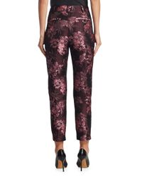 Saks Fifth Avenue - Red Collection Brocade Cropped Trousers - Lyst