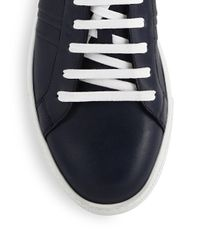 Sutor Mantellassi - Blue Scott Box Leather Sneakers for Men - Lyst