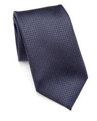 Pal Zileri   Blue Geometric Silk Tie for Men   Lyst
