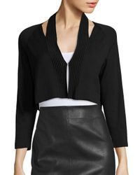 Saks Fifth Avenue - Black Modern Cutout Shrug - Lyst