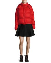 Moncler - Red Paeonia Puffer Jacket - Lyst