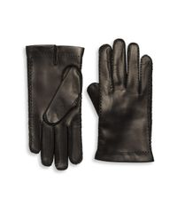Portolano - Black Cashmere-lined Leather Gloves for Men - Lyst