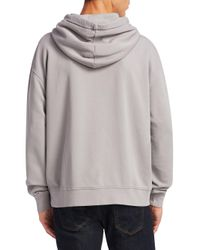 Acne - Gray Yala Cotton Hoodie for Men - Lyst
