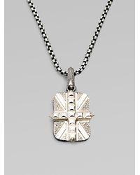 Stephen Webster - Metallic Cross Union Jack Necklace for Men - Lyst