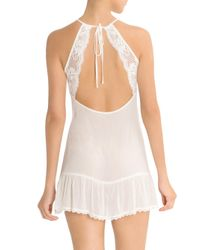 In Bloom - White Crinkled Yoryu Chiffon Chemise - Lyst