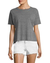 AMO - Gray Stitched Side Girlfriend Tee - Lyst