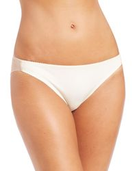 Fortnight - Natural Seamless Bikini Brief - Lyst