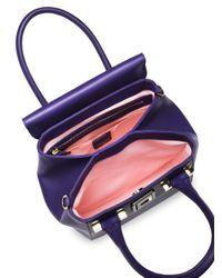 Luana Italy - Multicolor Mini Diamond Leather Tote - Lyst