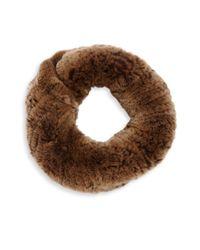 Surell - Brown Sheared Rabbit Fur Infinity Scarf - Lyst