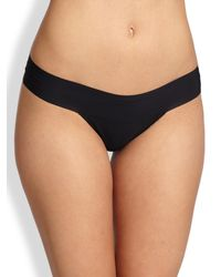 Hanky Panky | Black Bare Eve Natural-rise Thong | Lyst