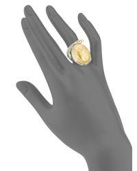 Konstantino - Metallic Gaia Snake-detail Oval Ring - Lyst